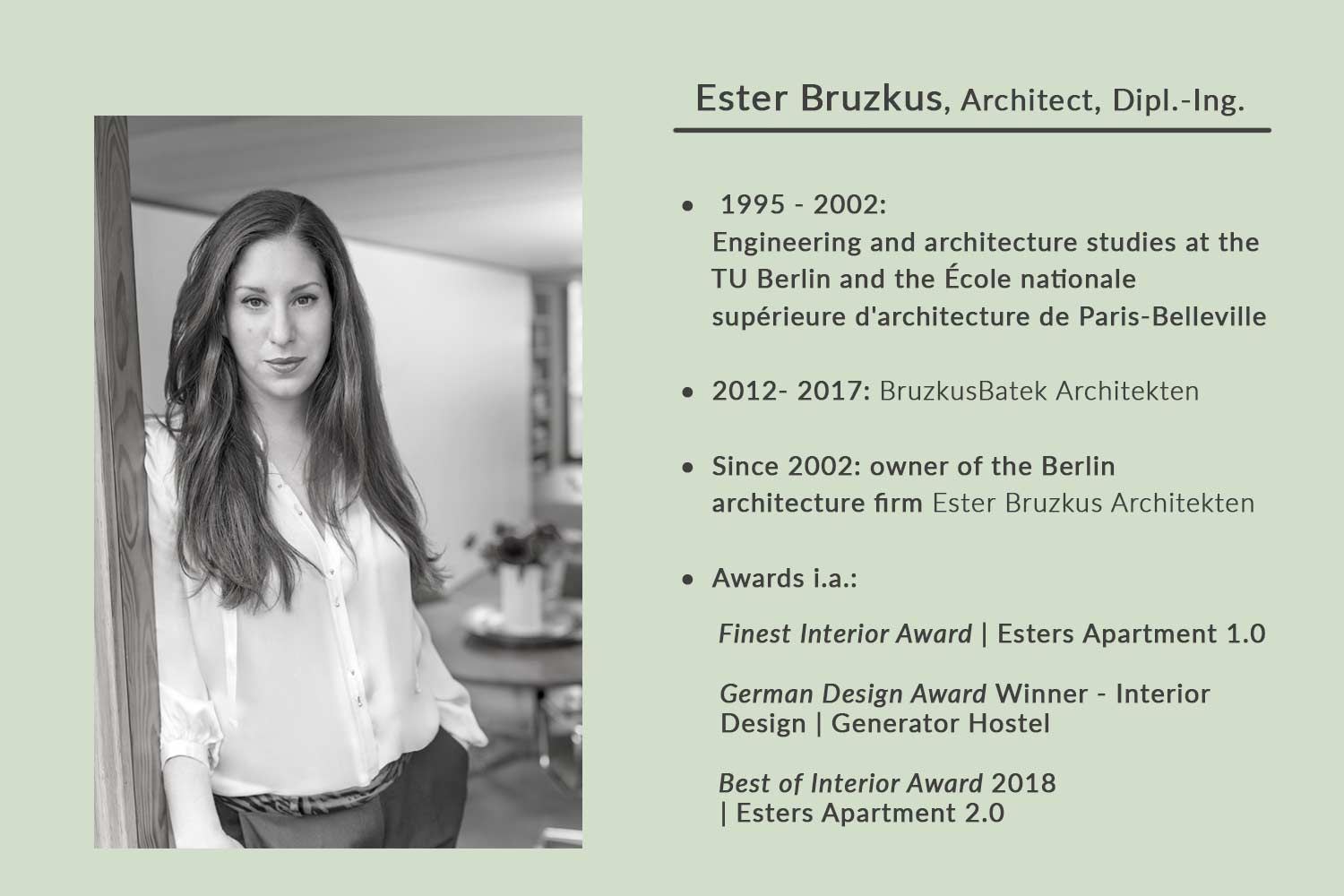 CV - Berlin architect Ester Bruzkus