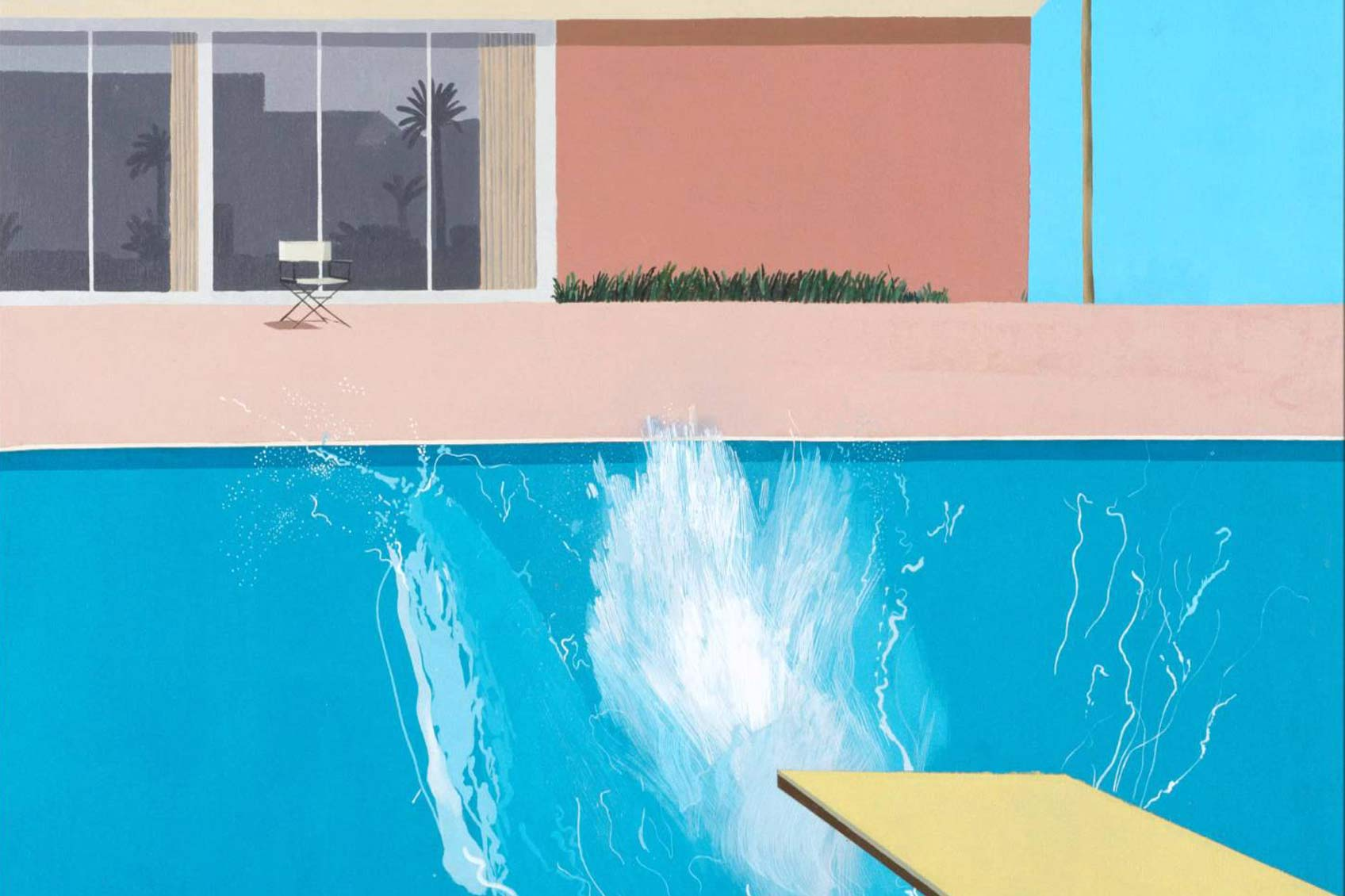"""A bigger splash"" ©David Hockney"