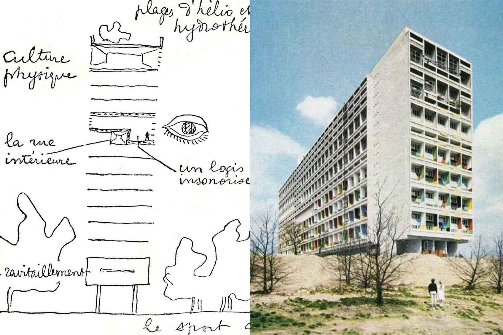 """Le Corbusier Unite D Habitation le corbusier's residential unit """"type berlin"""""""