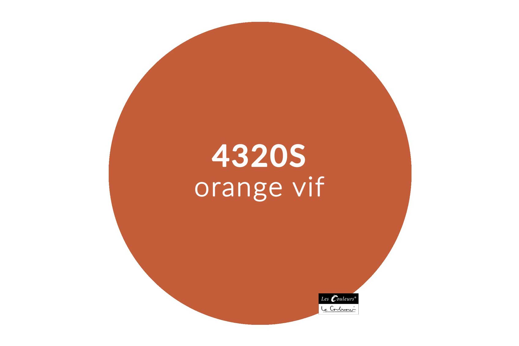 ©Les Couleurs Le Corbusier - 4320S orange vif